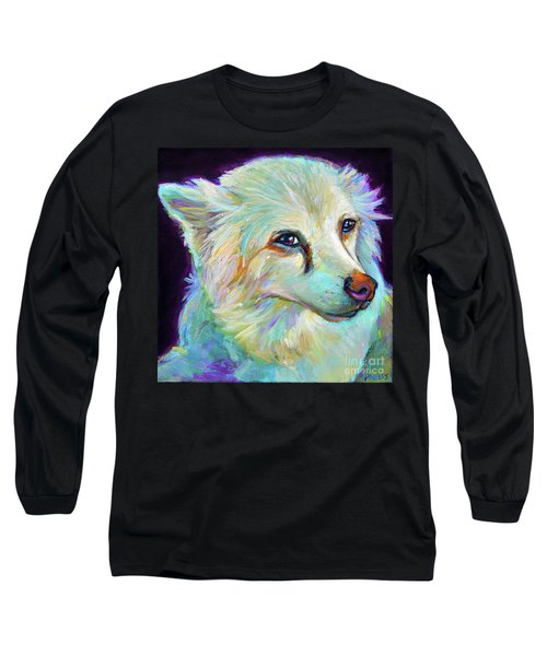 Long Sleeve T-Shirt featuring the painting American Eskimo by Robert Phelps
