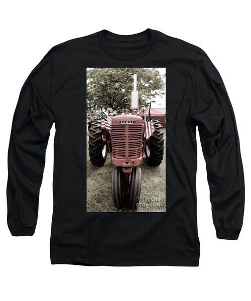 Long Sleeve T-Shirt featuring the photograph American Farmall Head On by Meagan  Visser