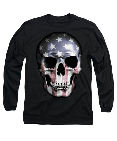 American Skull Long Sleeve T-Shirt