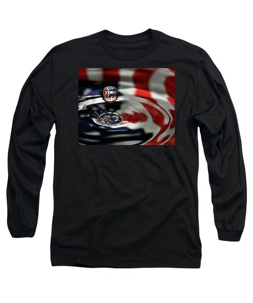 Long Sleeve T-Shirt featuring the photograph American Water Drop by Betty Denise