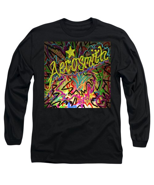 Long Sleeve T-Shirt featuring the painting America's Rock Band by Kevin Caudill