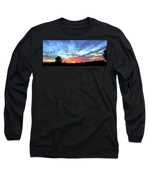 Long Sleeve T-Shirt featuring the photograph City On A Hill - Americus, Ga Sunset by Jerry Battle