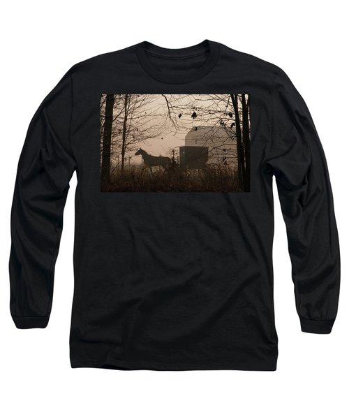 Amish Buggy Fall Long Sleeve T-Shirt