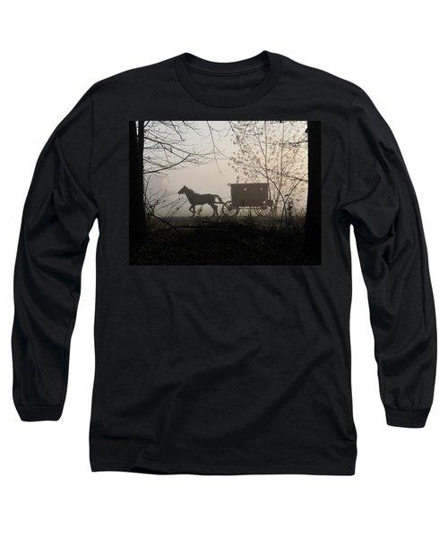 Amish Buggy Foggy Sunday Long Sleeve T-Shirt