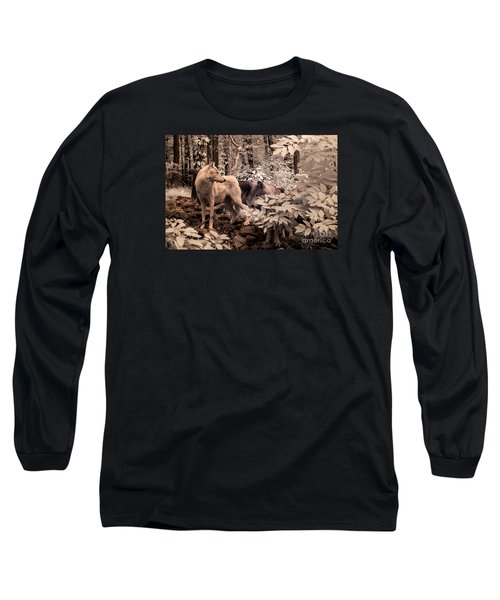 Among Mixed Company Long Sleeve T-Shirt by William Fields