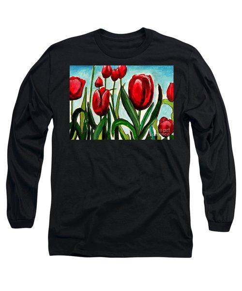 Among The Tulips Long Sleeve T-Shirt