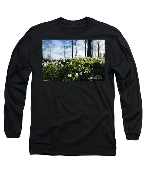 Long Sleeve T-Shirt featuring the photograph Among Windflowers On The Ground by Kennerth and Birgitta Kullman