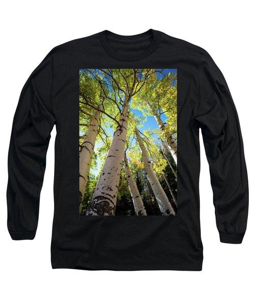 Long Sleeve T-Shirt featuring the photograph Aspen Dance by Dana Sohr