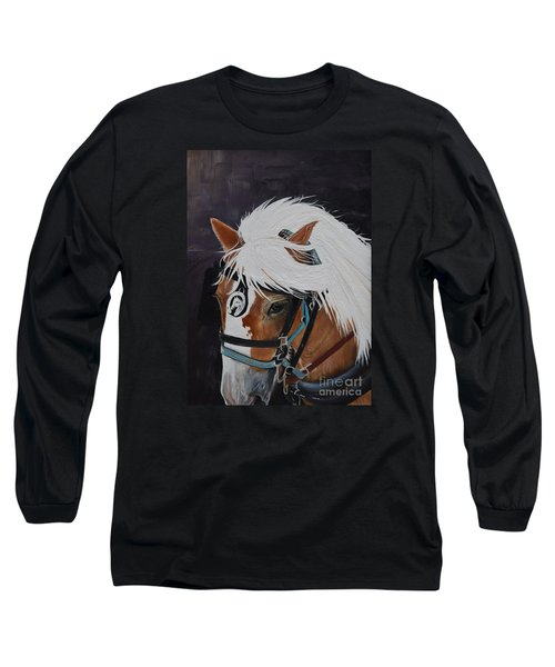 Amos - Haflinger - Horse Long Sleeve T-Shirt