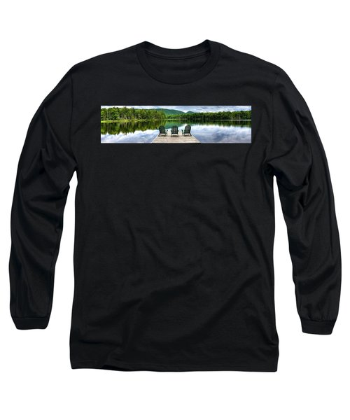 Long Sleeve T-Shirt featuring the photograph An Adirondack Panorama by David Patterson