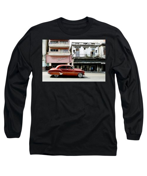Long Sleeve T-Shirt featuring the photograph An American In Havana by Denis Rouleau