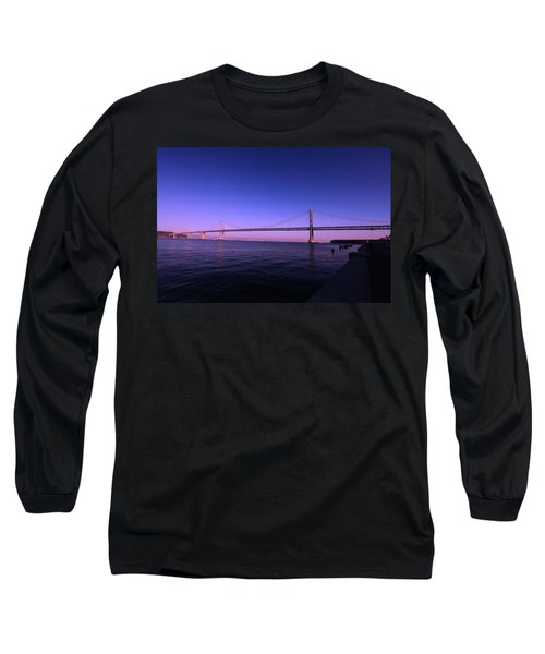An Evening In San Francisco  Long Sleeve T-Shirt by Linda Edgecomb