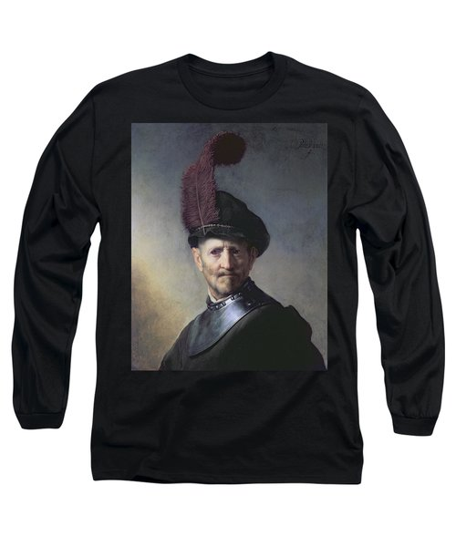 An Old Man In Military Costume Long Sleeve T-Shirt