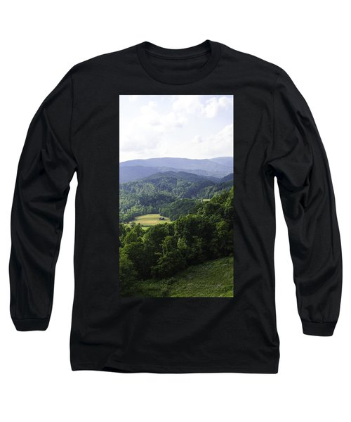 An Old Shack Hidden Away In The Blue Ridge Mountains Long Sleeve T-Shirt