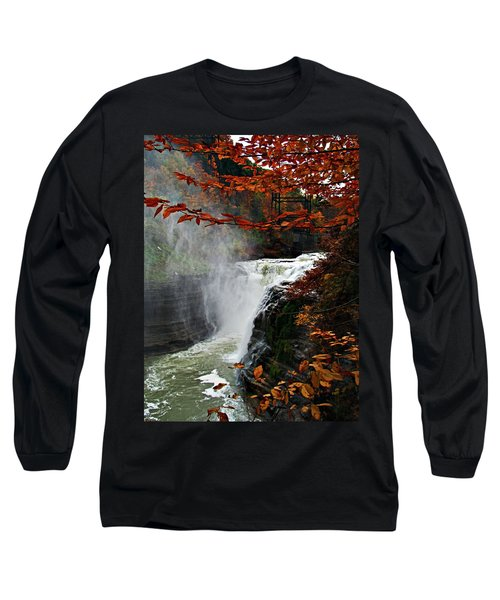 An Upper Letchworth Autumn Long Sleeve T-Shirt by Lianne Schneider