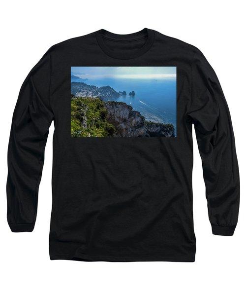 Anacapri On Isle Of Capri Long Sleeve T-Shirt