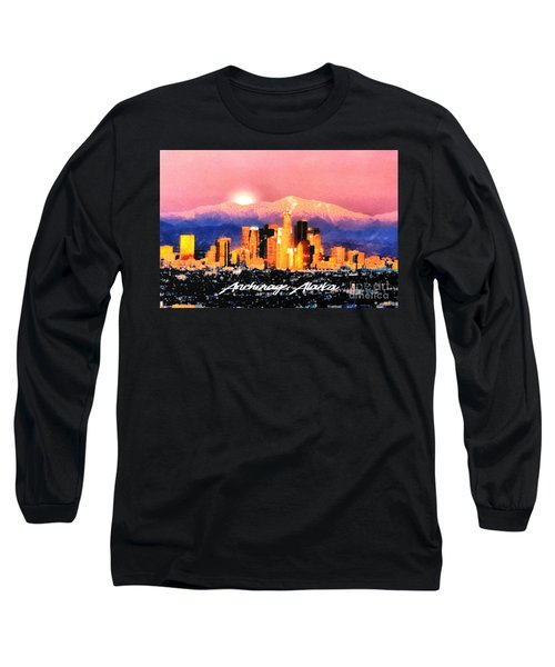Anchorage - Bright-named Long Sleeve T-Shirt by Elaine Ossipov