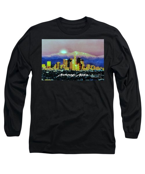 Anchorage-subdued Long Sleeve T-Shirt by Elaine Ossipov