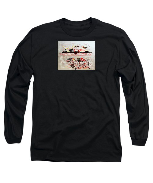 And Down The Stretch They Come Long Sleeve T-Shirt