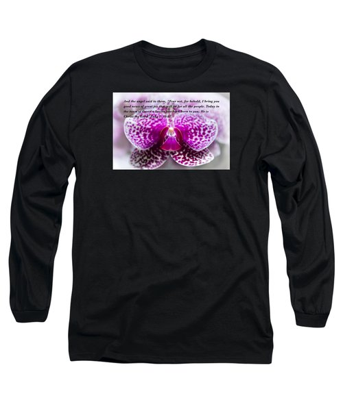 Angel Among Us Long Sleeve T-Shirt by Penny Lisowski