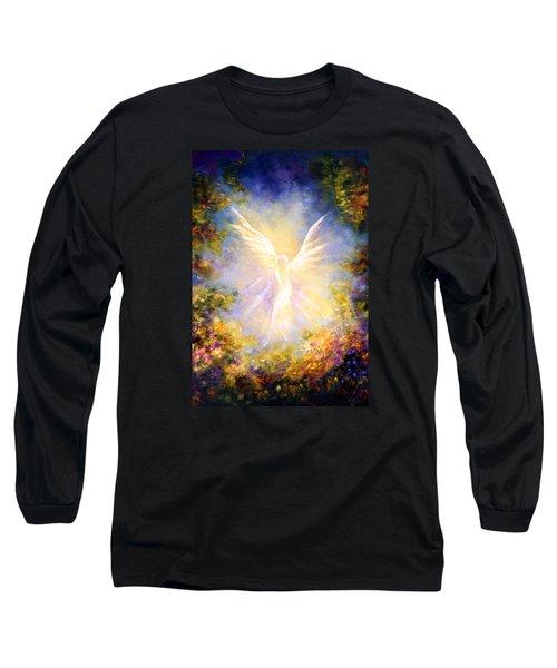 Angel Descending Long Sleeve T-Shirt by Marina Petro