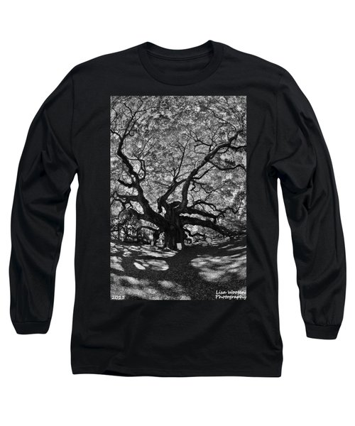 Angel Oak Johns Island Black And White Long Sleeve T-Shirt