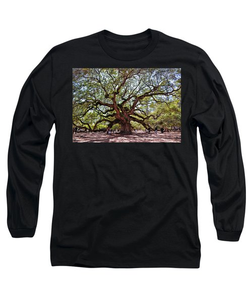 Angel Oak Tree 009 Long Sleeve T-Shirt