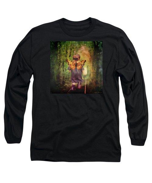 Angel Wings Long Sleeve T-Shirt by Lisa Noneman