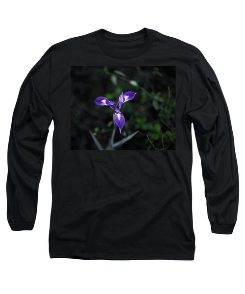Long Sleeve T-Shirt featuring the photograph Angelpod Blue Flag by Sally Weigand