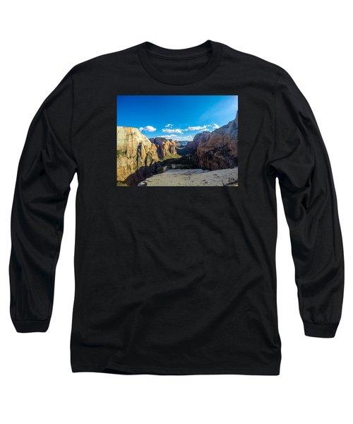 Angels Landing Long Sleeve T-Shirt by Alpha Wanderlust