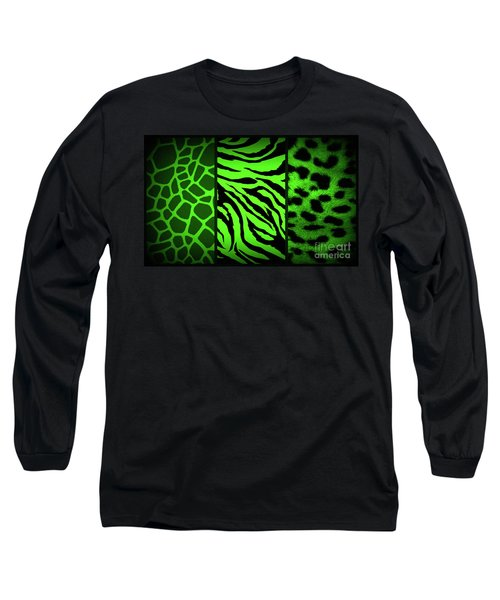 Animal Prints Long Sleeve T-Shirt by Donna Bentley
