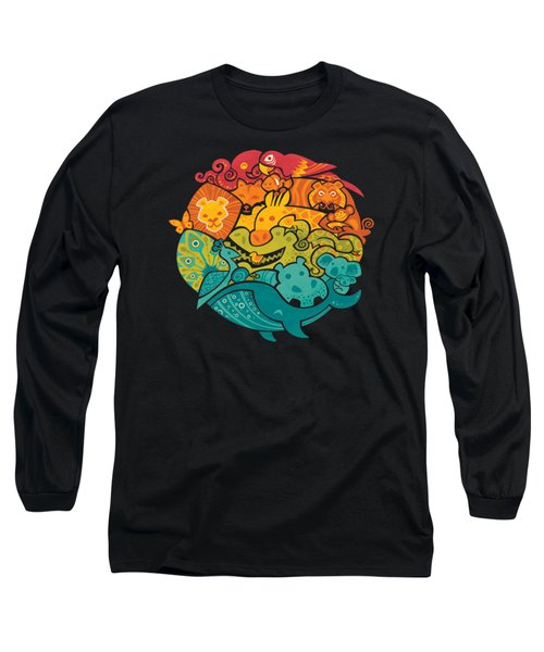 Animals Of The World Long Sleeve T-Shirt by Craig Carr