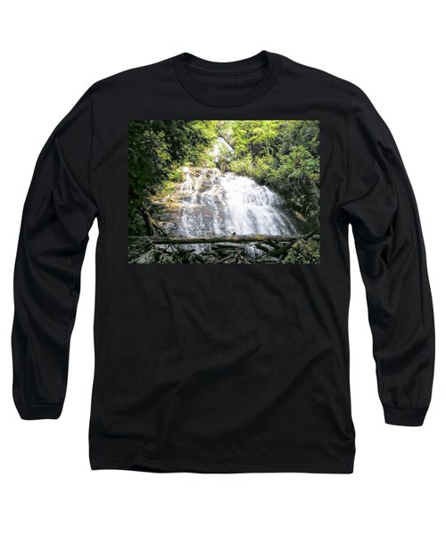 Long Sleeve T-Shirt featuring the photograph Anna Ruby Falls by Jerry Battle