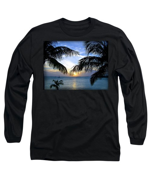 Another Key West Sunset Long Sleeve T-Shirt by Joan  Minchak