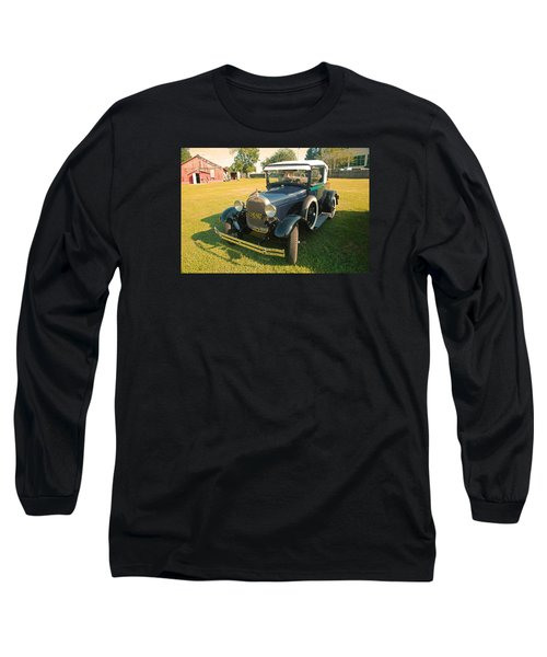 Antique Ford Car Long Sleeve T-Shirt by Ronald Olivier