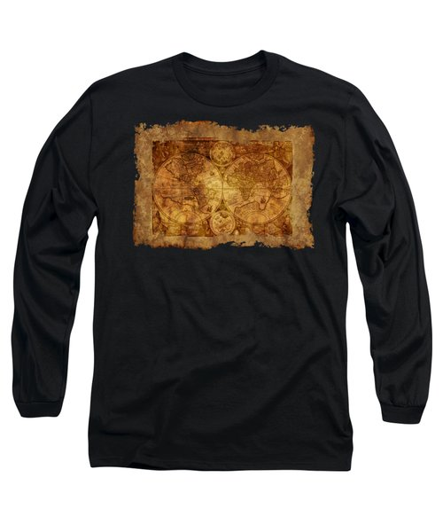 Antique Map Of The World Long Sleeve T-Shirt