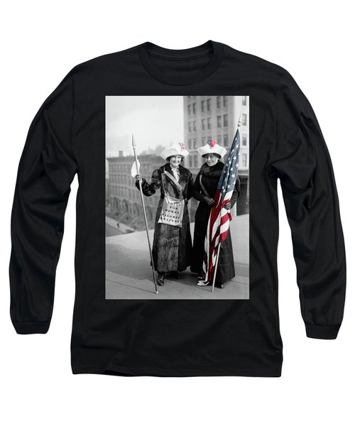 Antique Photo Of Two Women Long Sleeve T-Shirt