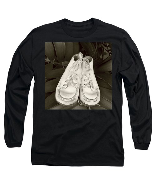 Antiqued Baby Shoes Long Sleeve T-Shirt by Ellen O'Reilly