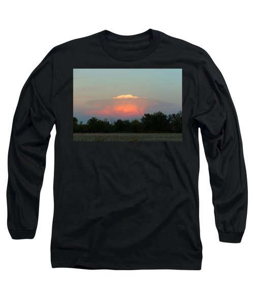 Anvil Cloud Over Kirksville, Mo Long Sleeve T-Shirt by Jana Russon