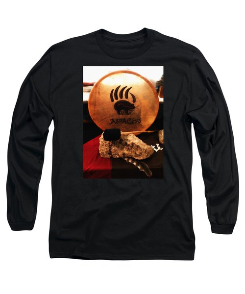 Apache Drum Long Sleeve T-Shirt by Ayasha Loya