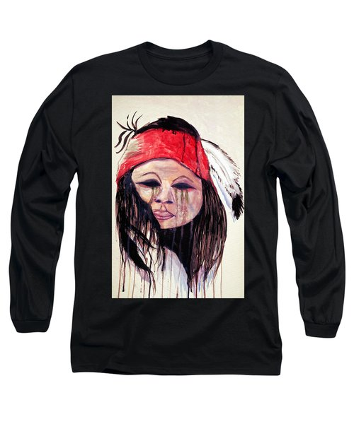 Watercolor Painting Of Apache Tears By Ayasha Loya Long Sleeve T-Shirt by Ayasha Loya