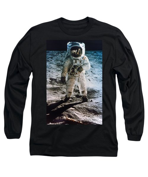 Apollo 11 Buzz Aldrin - To License For Professional Use Visit Granger.com Long Sleeve T-Shirt