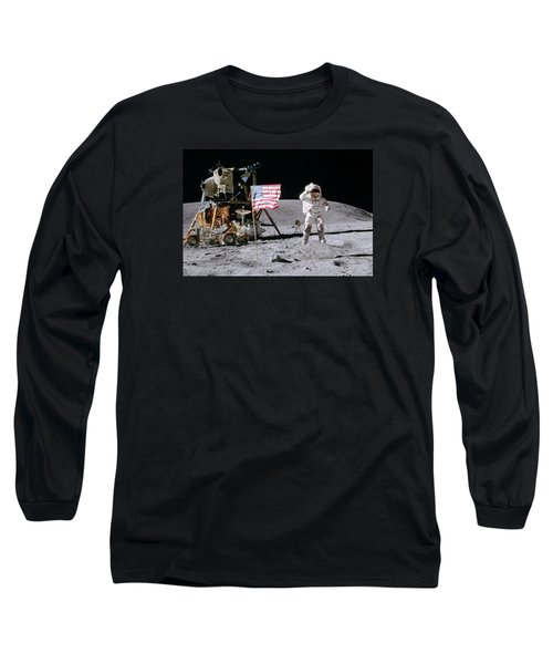 Apollo 16 Long Sleeve T-Shirt by Peter Chilelli