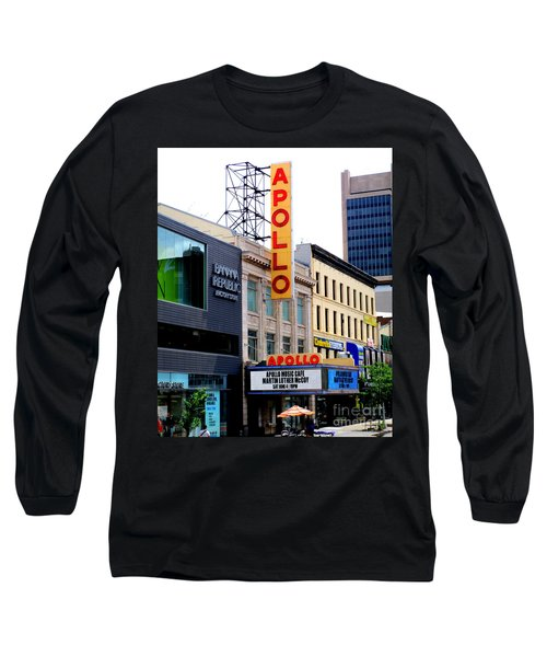 Long Sleeve T-Shirt featuring the photograph Apollo Theater by Randall Weidner