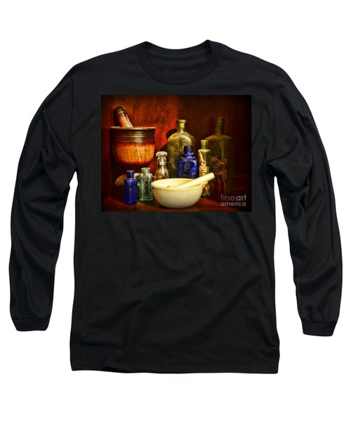Apothecary - Tools Of The Pharmacist Long Sleeve T-Shirt by Paul Ward