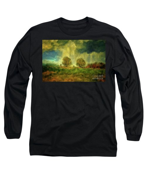Long Sleeve T-Shirt featuring the digital art Approaching Storm At Antietam by Lois Bryan