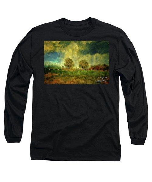 Long Sleeve T-Shirt featuring the digital art Approaching Storm At Antietam by Lois Bryan