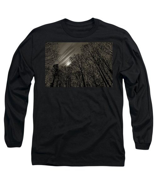 Approaching Storm, Black And White Long Sleeve T-Shirt