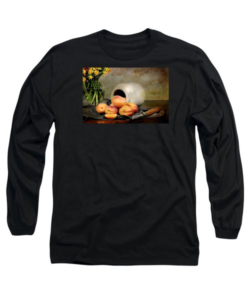 Apricots Long Sleeve T-Shirt by Diana Angstadt