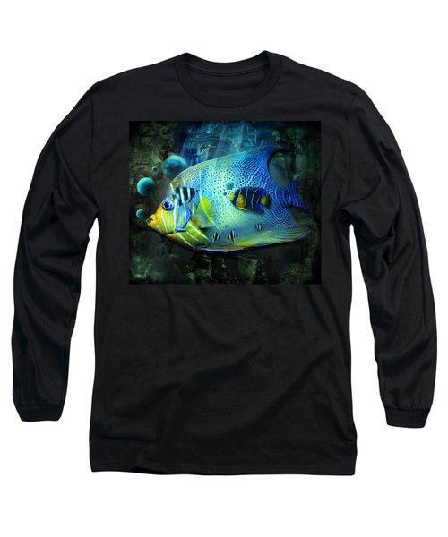 Aqua Fantasy Art World Long Sleeve T-Shirt